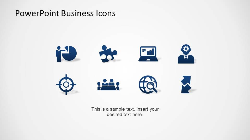 Modern Flat Gradient design PowerPoint Business Icons