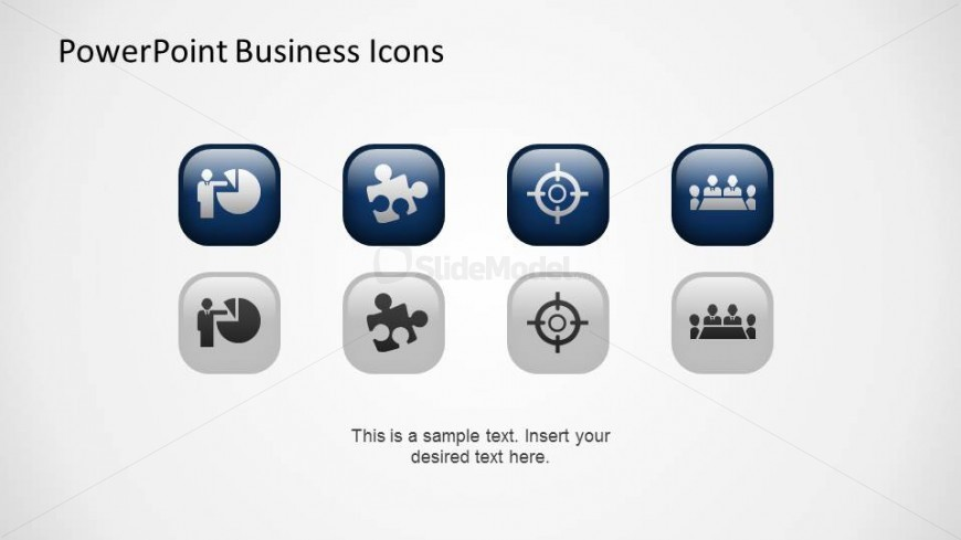 Blue and Grey PowerPoint Business Icons