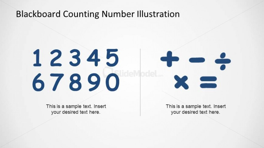 PowerPoint numbers to place and math symbols to place in Blackboard
