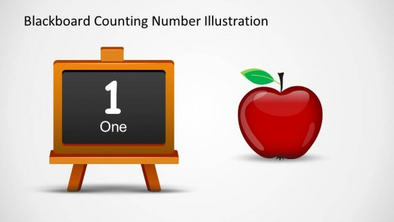 Blackboard With Number One Illustration