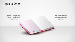 CreativeSchool Open Book PowerPoint Shape.