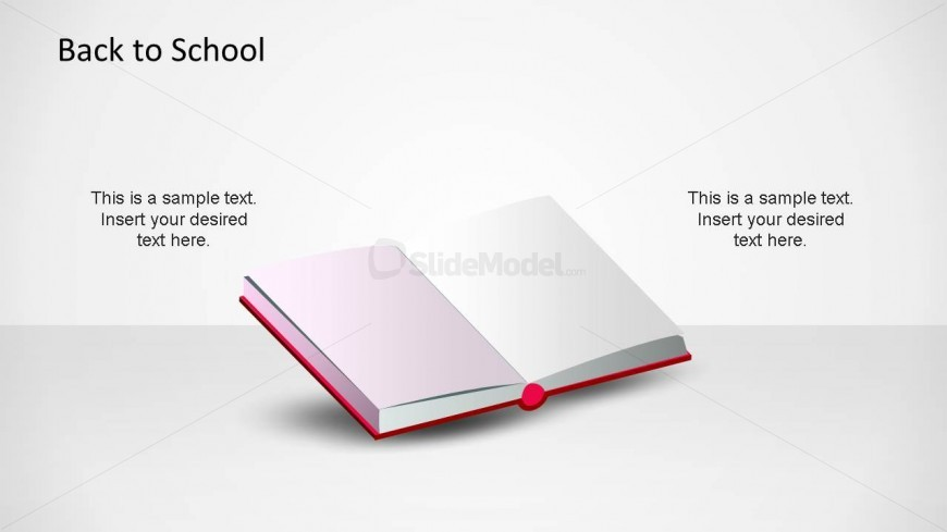 CreativeSchool Open Book PowerPoint Shape.