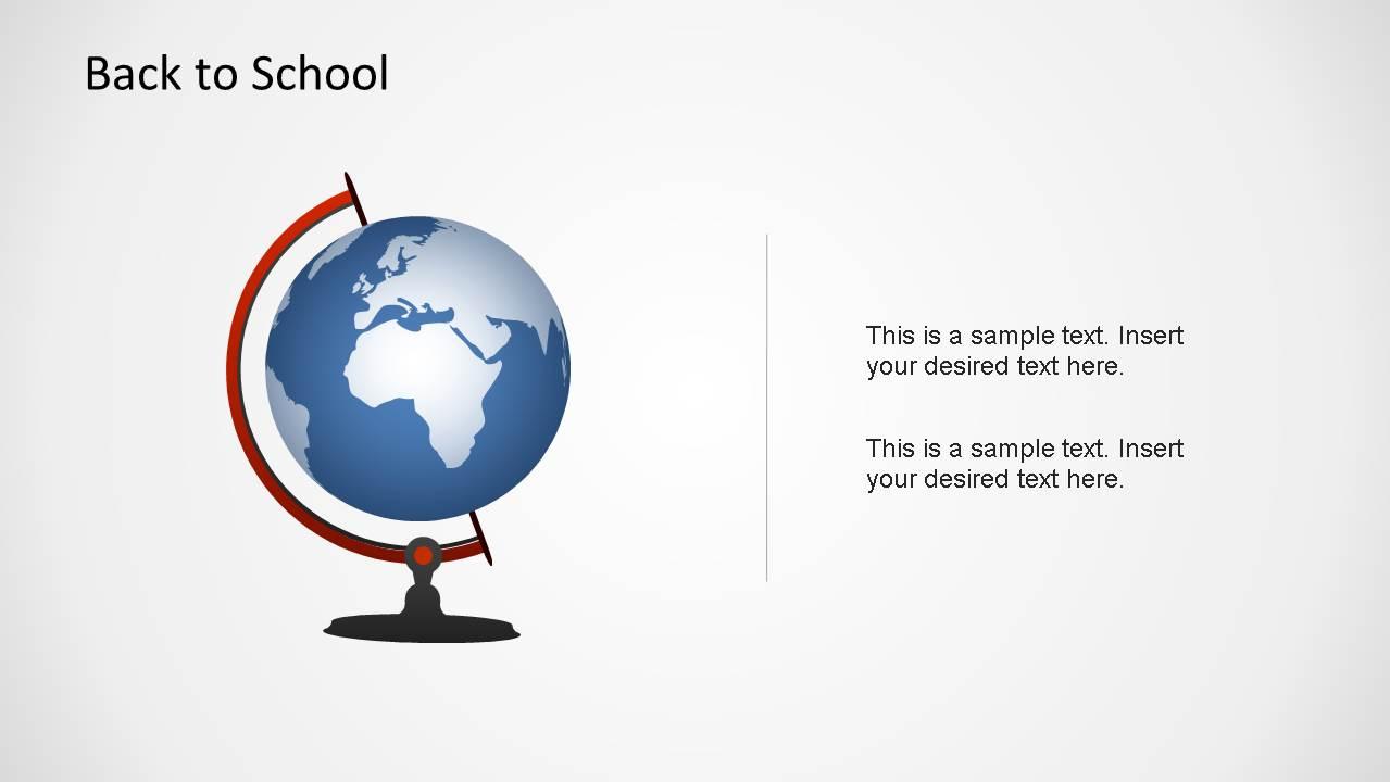 World-map as a Globe created as a PowerPoint Shape.