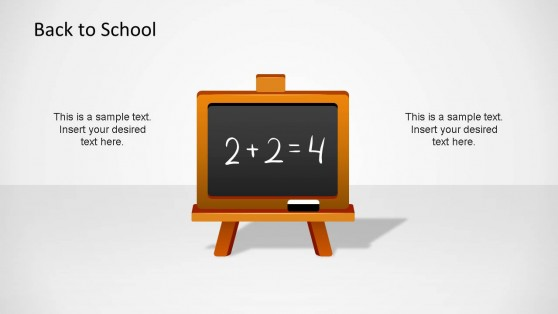 Math Blackboard PowerPoint Shape