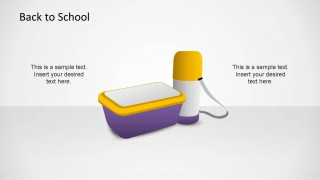 Back To School Lunch Pack PowerPoint Shape