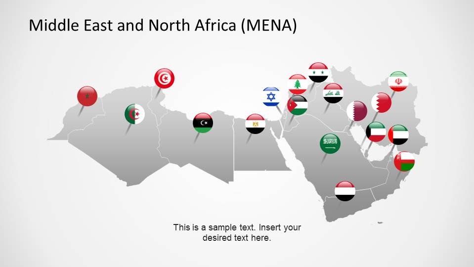 Middle east map design