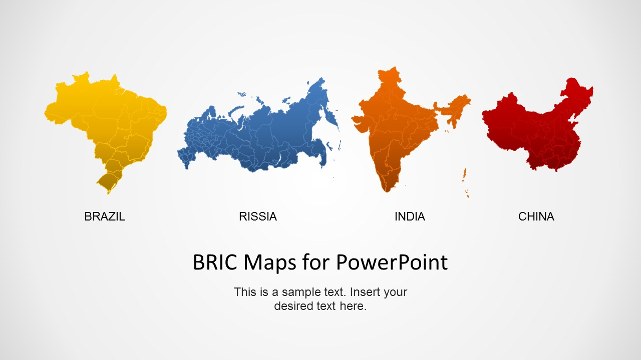 Bric maps template for powerpoint slidemodel bric maps template for powerpoint editable world map template for powerpoint bric countries gumiabroncs Image collections
