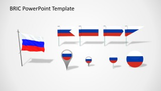 Russia Flag Slide for PowerPoint