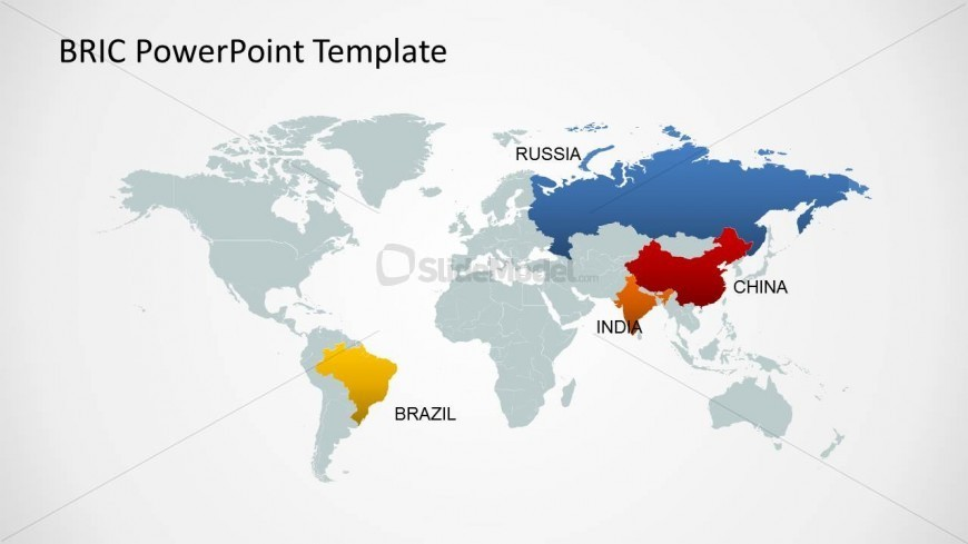 Editable world map template for powerpoint bric countries slidemodel editable world map template for powerpoint bric countries gumiabroncs Image collections