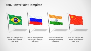 BRIC Flags PowerPoint Template