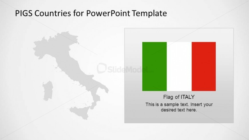 Italy outline map and flag slidemodel italy outline powerpoint map with flag textbox toneelgroepblik Image collections