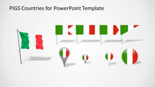 PowerPoint Flags and Icons Clipart with Italy Colors