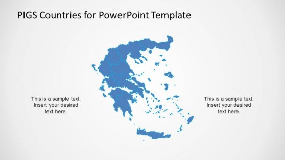Greece Political Outline Map with States Delimited