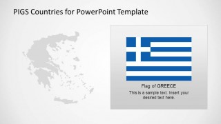 Flag and Map of Greece
