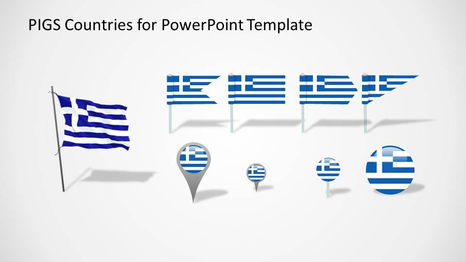 Greece PowerPoint Flags and Icons
