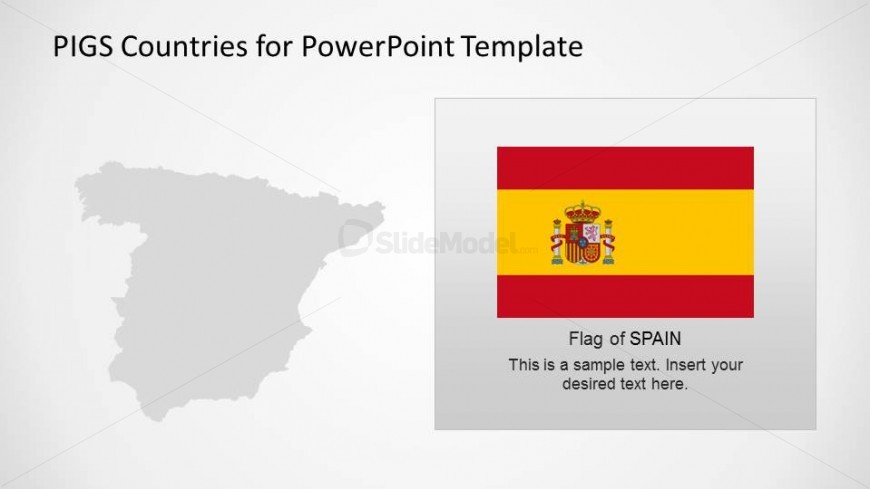PowerPoint Map and Flag of Spain