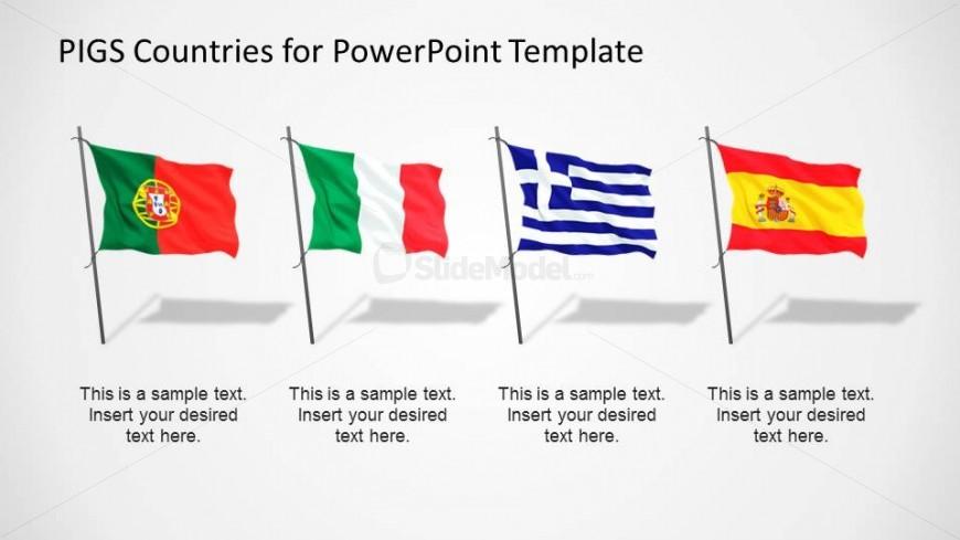 PIGS Countries Cliapart Flags