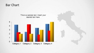 Italy PowerPoint Map with Data Driven Barchart