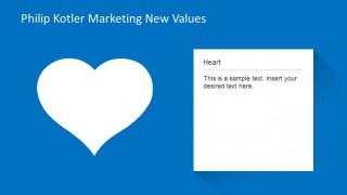 Marketing New Values Heart Description Slide
