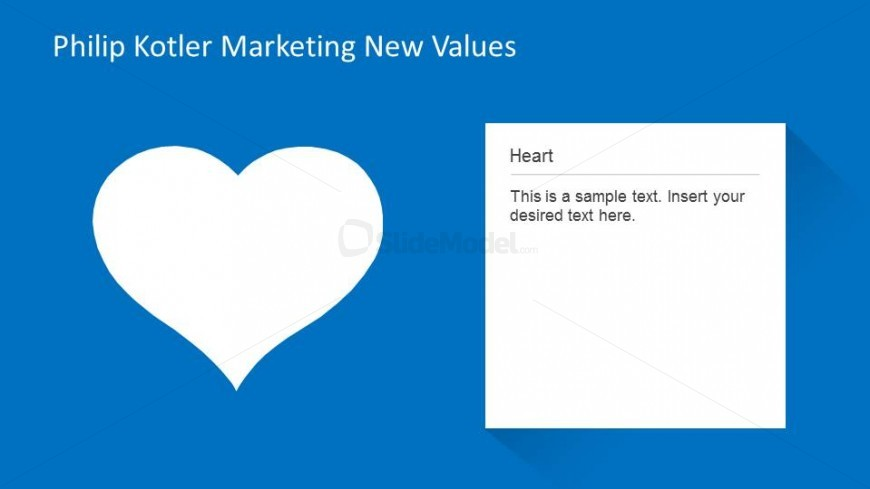 Marketing New Values Heart Description Slide