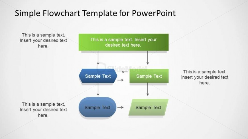 Powerpoint Flowchart Diagram With Three Layers Slidemodel