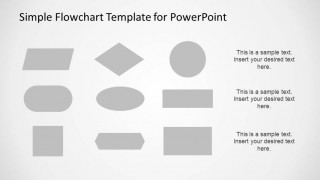 Grey Fill PowerPoint flowchart elements