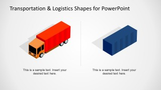 Container Shapes & Truck for PowerPoint