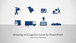 Splash Page for Shipping and Logistics PowerPoint Icons Catalog