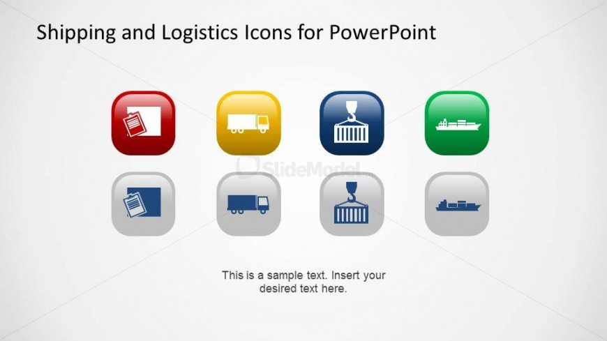 Container Moving and Handling Theme PowerPoint icons