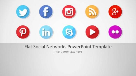 Instagram powerpoint templates flat social networks powerpoint template toneelgroepblik Images