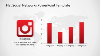 Instagram Flat Logo with Bar Chart Statistics