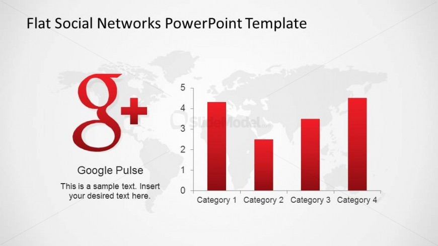 Google Plus Logo with Data Driven Chart representing KPIs