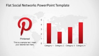 Pinterest Logo with Data Driven Bar Chart indicating metrics