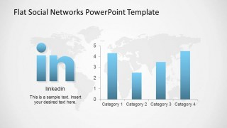 LinkedIn logo with Data Driven Chart Bar Chart Metrics