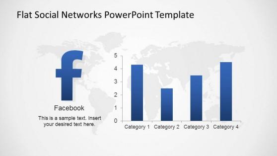 Facebook Bar Chart Usage Statistics Slide