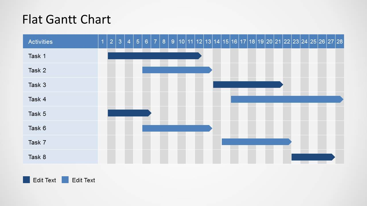 simple gantt chart powerpoint template slidemodel. Black Bedroom Furniture Sets. Home Design Ideas