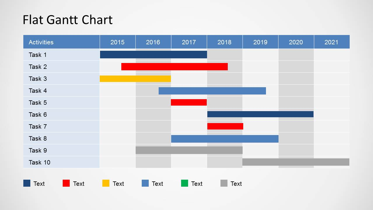 simple gantt chart powerpoint template slidemodel