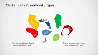 Separated PowerPoint Shapes of Poultry Meat Cuts