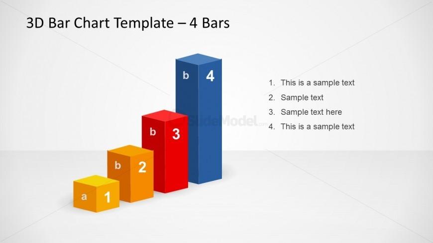 3D Bar Chart Slide Design for PowerPoint