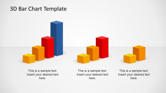 3D Bar Chart Elements for PowerPoint
