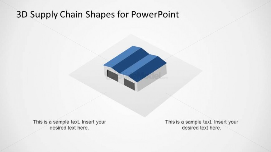 Warehouse 3D Shape for Supply Chain Diagram