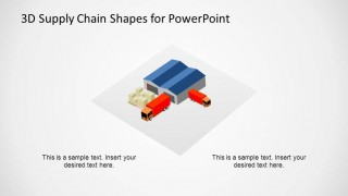 3D Supply Chain Distribution Shape for PowerPoint