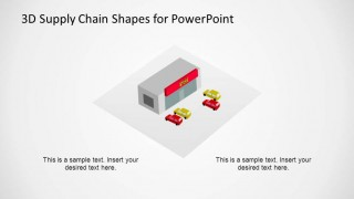 Supply Chain Diagram Retail Shape for PowerPoint