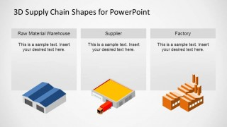PowerPoint Slide with Warehouse Supplier and Factory Shapes