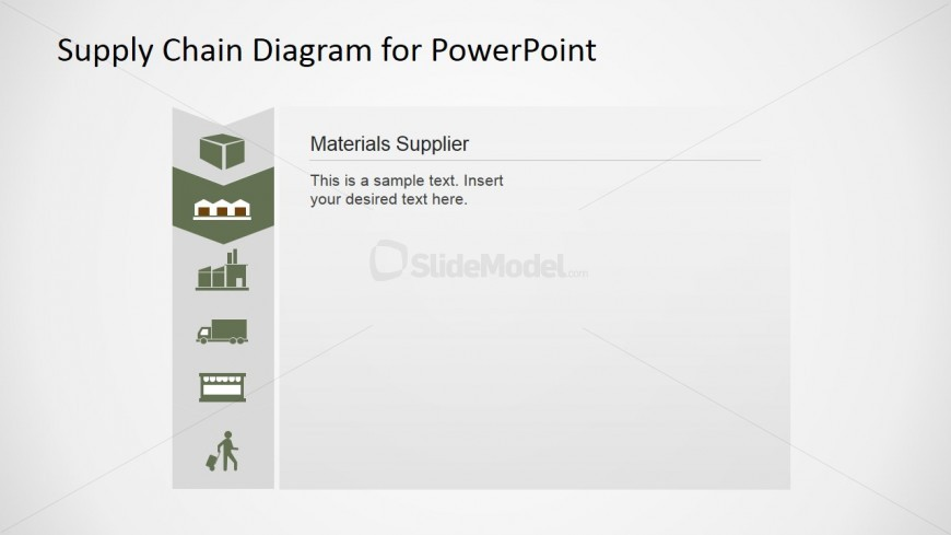 PowerPoint Slide of Materials Supplier Supply Chain Slide