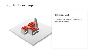 PowerPoint 3D Shape Factory Supply Chain