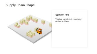 PowerPoint Shapes of Supply Chain Warehouse