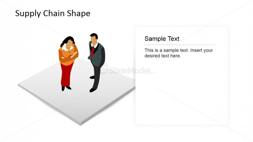 PowerPoint Editable Shapes of Man and Woman