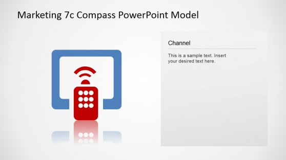 Channel Icon Design Slide for 7Cs Compass Marketing Model