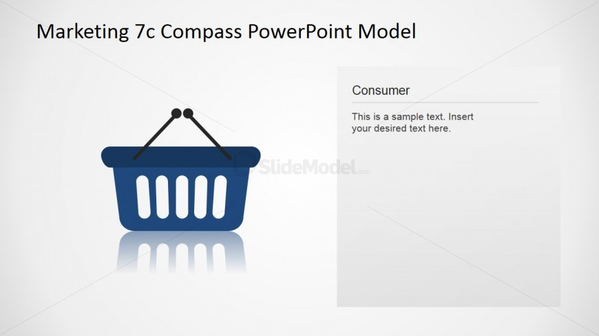 PowerPoint Icon for Consumer Concept of 7Cs Compass Model